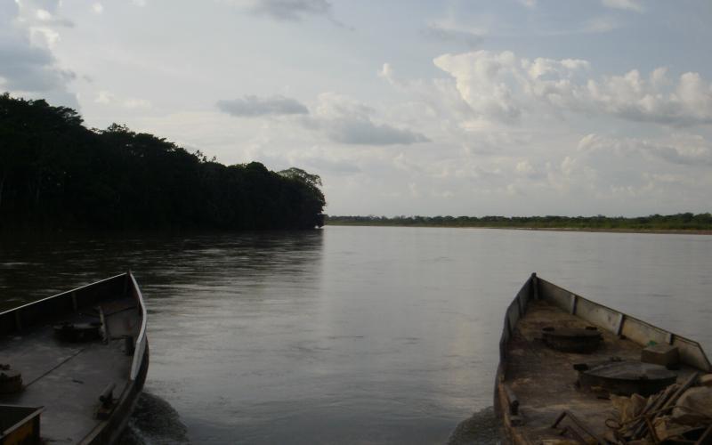 Vista del río Ariari - Municipio Puerto Lleras (Departamento del Meta)